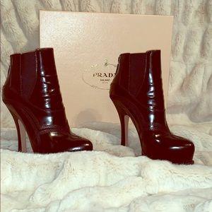 Prada high heel booties